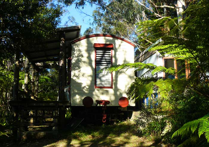 The restored Railway carriage makes for ideal guest accommodation