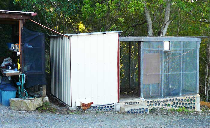 The chookshed which is currently  used as a shade house