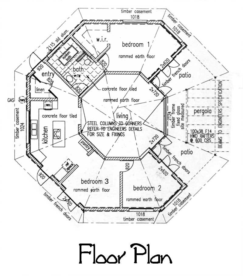 Original Temple Floor Plan circa March, 1997